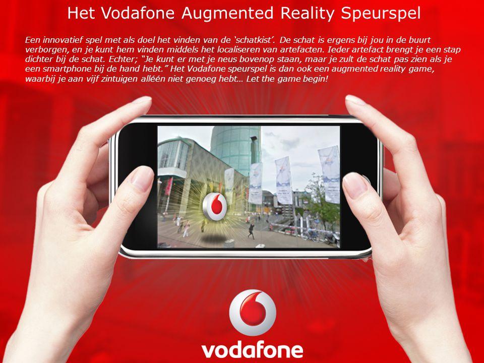 Het Vodafone Augmented Reality Speurspel Een innovatief spel met als doel het vinden van de 'schatkist'.