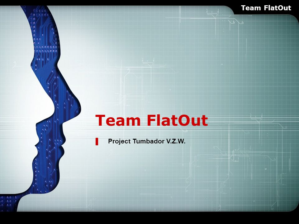 LOGO Team FlatOut Project Tumbador V.Z.W. Team FlatOut