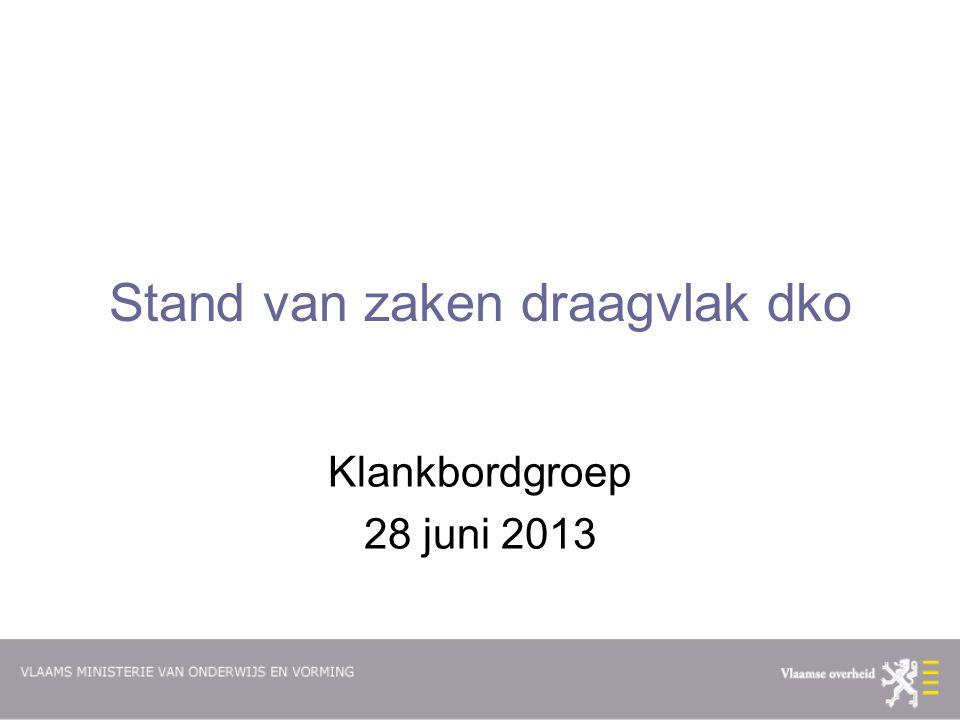Stand van zaken draagvlak dko Klankbordgroep 28 juni 2013