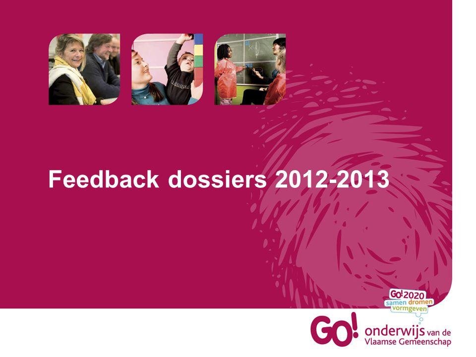 Feedback dossiers 2012-2013
