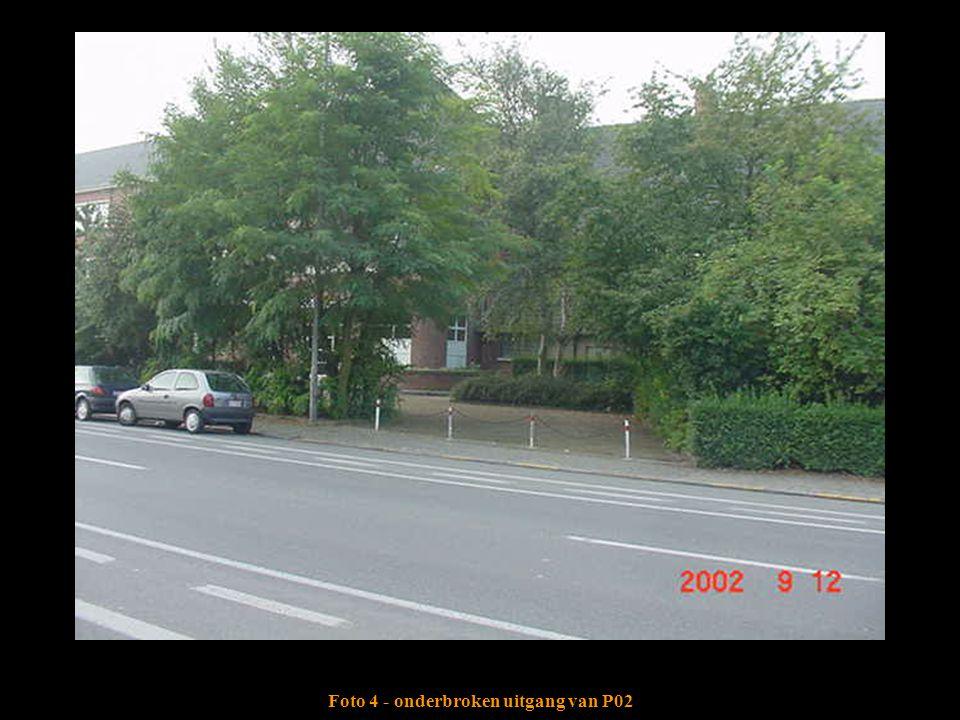 Foto 4 - onderbroken uitgang van P02