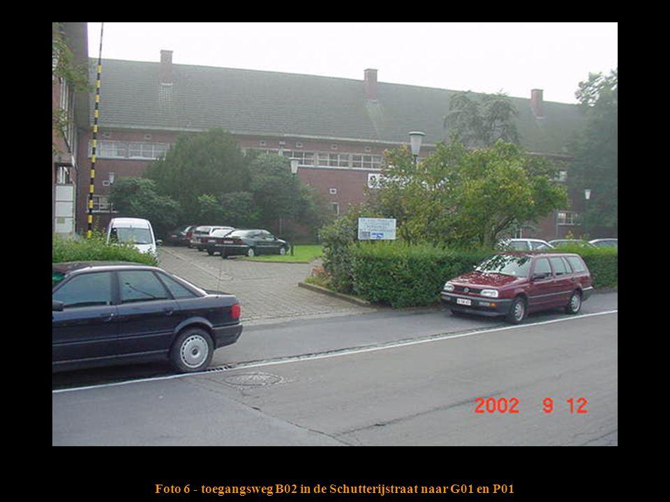Foto 6 - toegangsweg B02 in de Schutterijstraat naar G01 en P01
