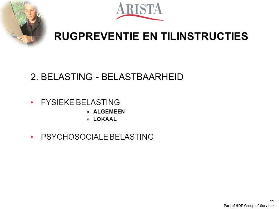 10 Part of HDP Group of Services RUGPREVENTIE EN TILINSTRUCTIES 1. KEN JE RUG OVERZICHT 1.WERVEL 2.TUSSENWERVELSCHIJF 3.ZENUW 4.FACETGEWRICHT 5.LIGAME