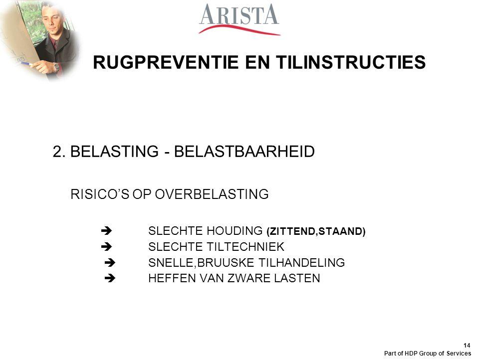 13 Part of HDP Group of Services RUGPREVENTIE EN TILINSTRUCTIES druk