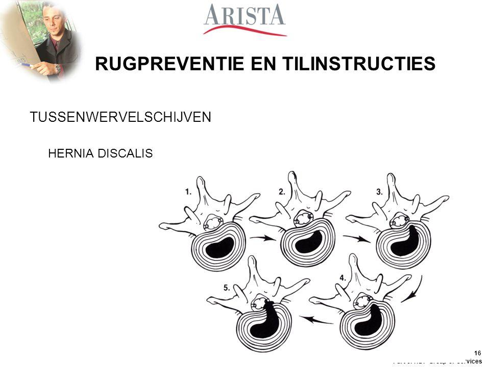 15 Part of HDP Group of Services RUGPREVENTIE EN TILINSTRUCTIES 3. RUGLETSELS - RUGKLACHTEN OORZAKEN VAN RUGKLACHTEN - HOUDING - TILTECHNIEK -  BEWEE