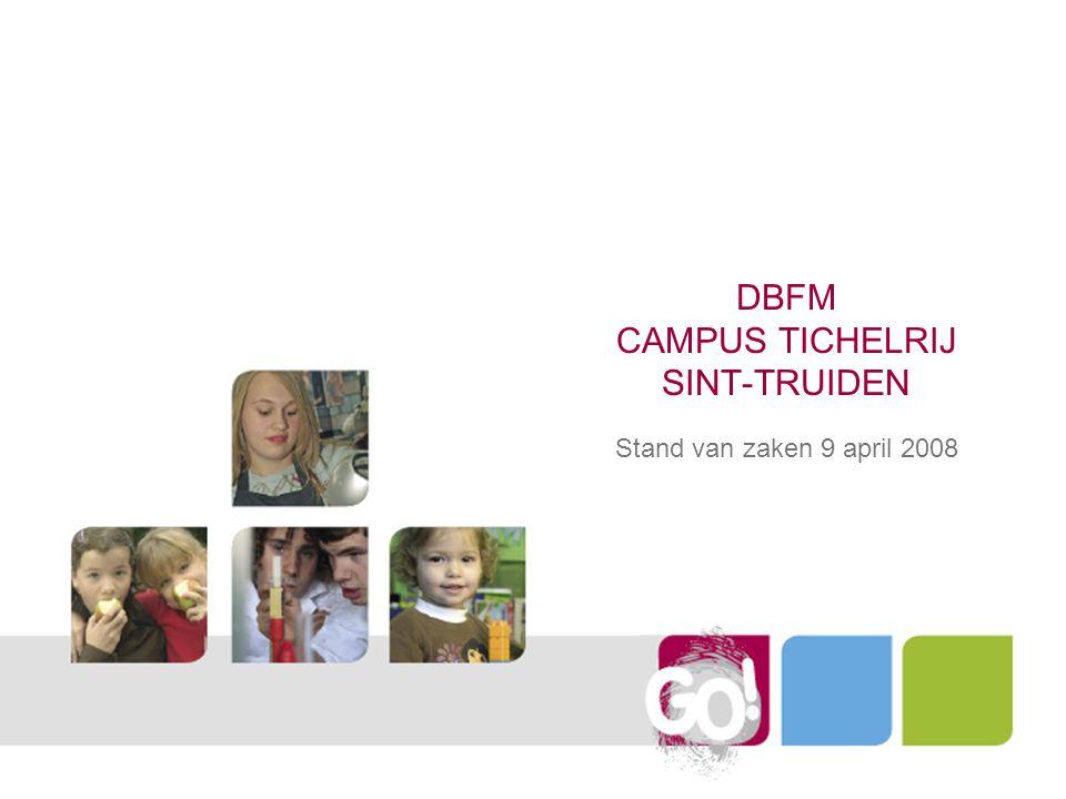 DBFM CAMPUS TICHELRIJ SINT-TRUIDEN Stand van zaken 9 april 2008