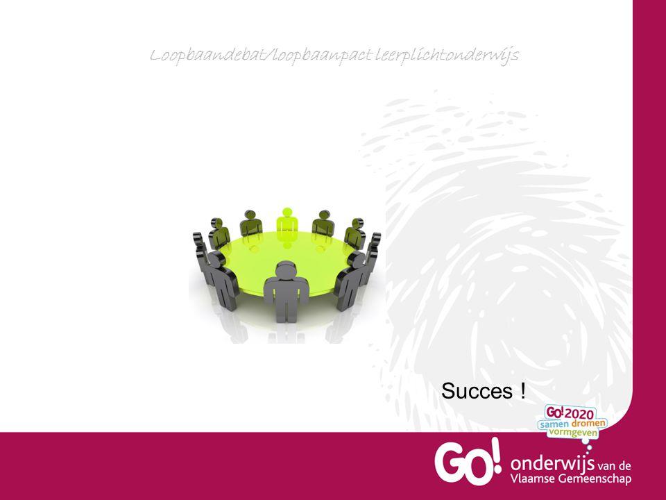 Loopbaandebat/loopbaanpact leerplichtonderwijs Succes !