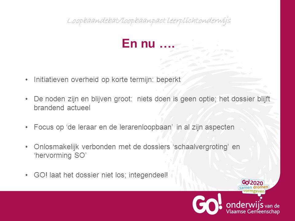 Loopbaandebat/loopbaanpact leerplichtonderwijs En nu ….