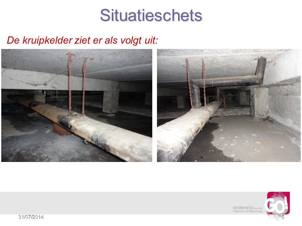 4 Situatieschets De toegang tot de kruipkelder ziet er als volgt uit: 31/07/2014