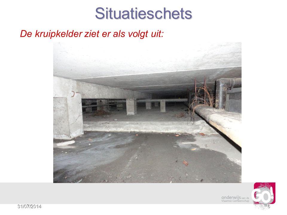 5 Situatieschets De kruipkelder ziet er als volgt uit: