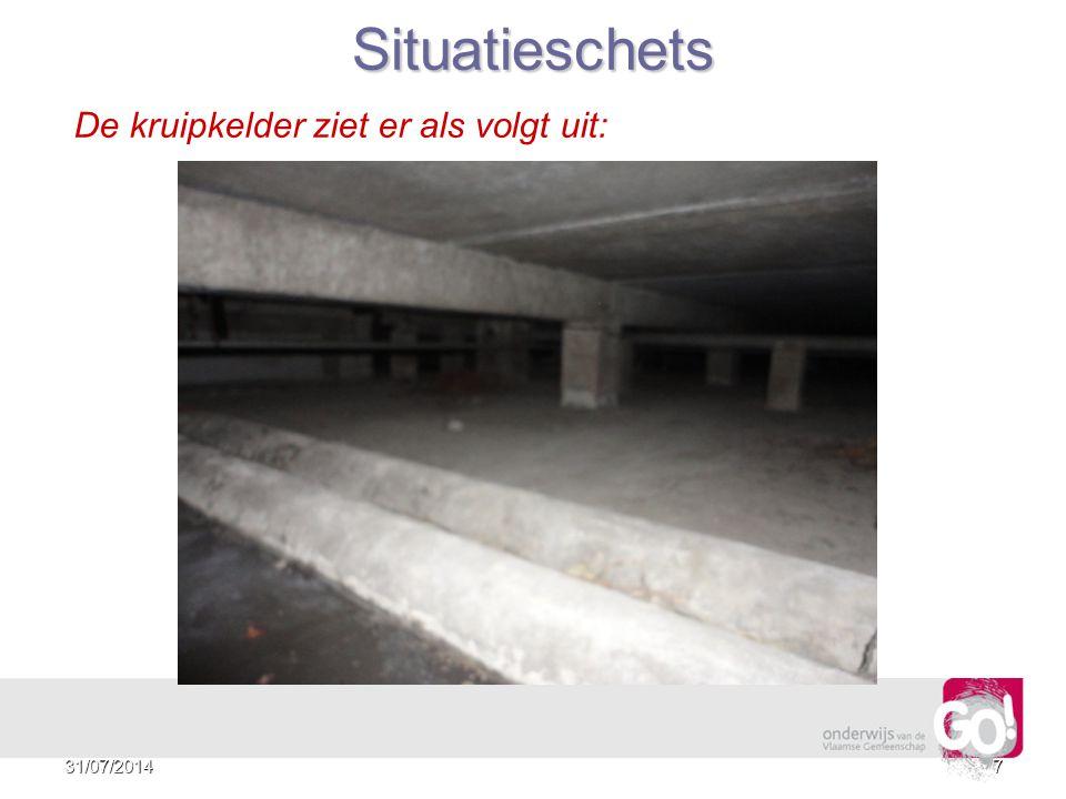 631/07/2014 Situatieschets De kruipkelder ziet er als volgt uit: