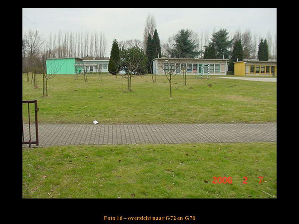Foto 16 – overzicht naar G72 en G70