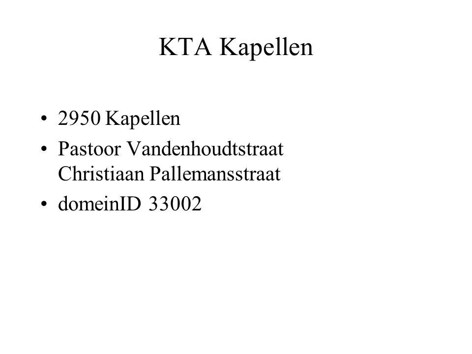 KTA Kapellen 2950 Kapellen Pastoor Vandenhoudtstraat Christiaan Pallemansstraat domeinID 33002