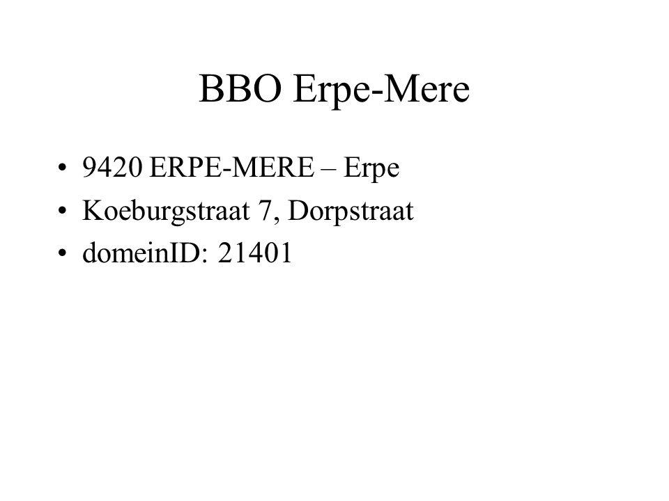 BBO Erpe-Mere 9420 ERPE-MERE – Erpe Koeburgstraat 7, Dorpstraat domeinID: 21401