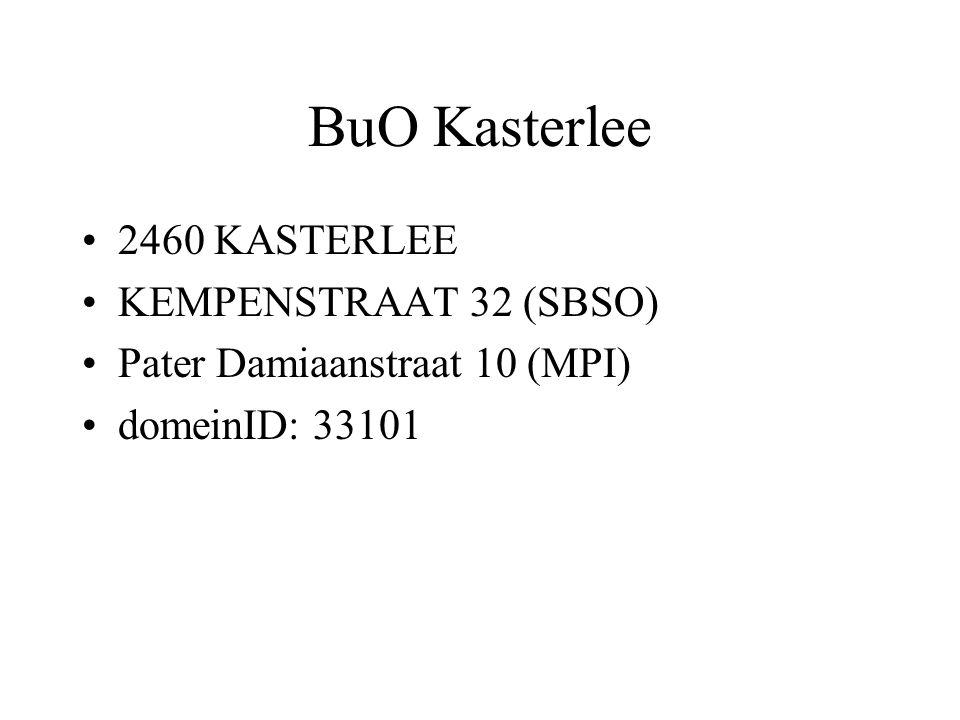 BuO Kasterlee 2460 KASTERLEE KEMPENSTRAAT 32 (SBSO) Pater Damiaanstraat 10 (MPI) domeinID: 33101