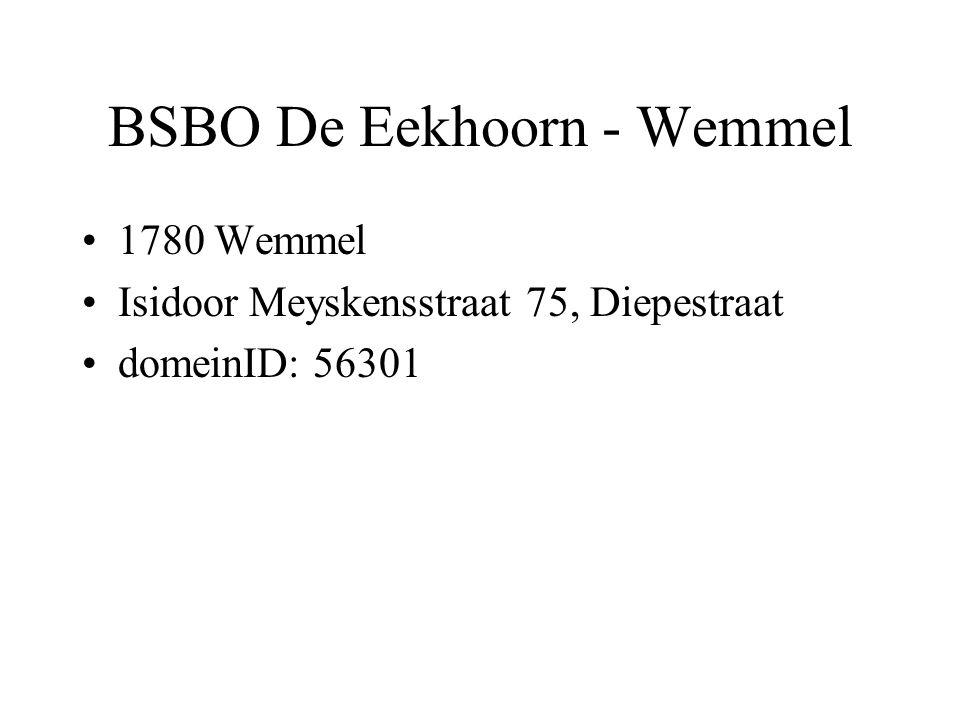 BSBO De Eekhoorn - Wemmel 1780 Wemmel Isidoor Meyskensstraat 75, Diepestraat domeinID: 56301