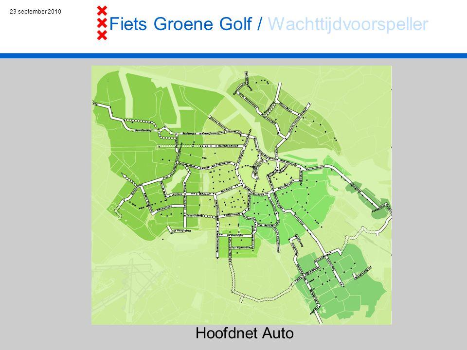23 september 2010 Hoofdnet Auto Fiets Groene Golf / Wachttijdvoorspeller