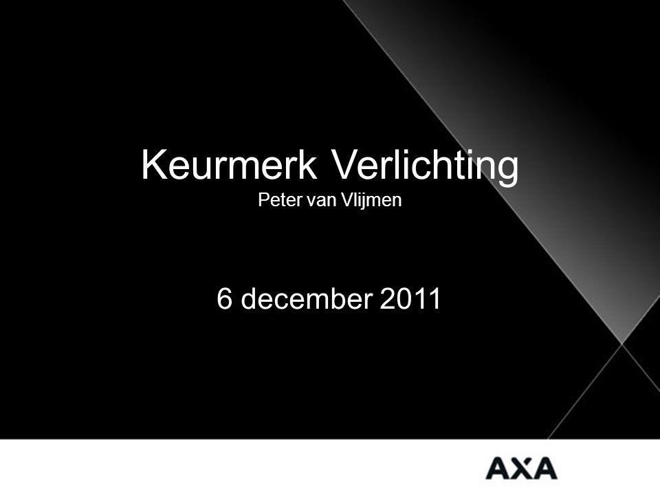 Keurmerk Verlichting Peter van Vlijmen 6 december 2011