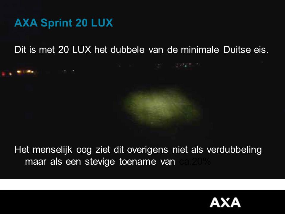 AXA Sprint 20 LUX Dit is met 20 LUX het dubbele van de minimale Duitse eis.