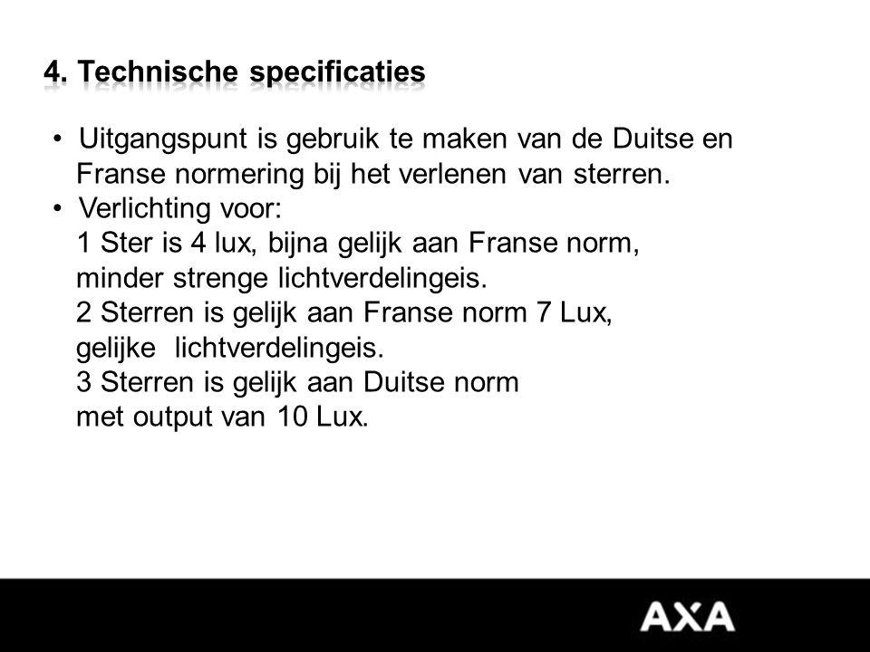 Uitgangspunt is gebruik te maken van de Duitse en Franse normering bij het verlenen van sterren.