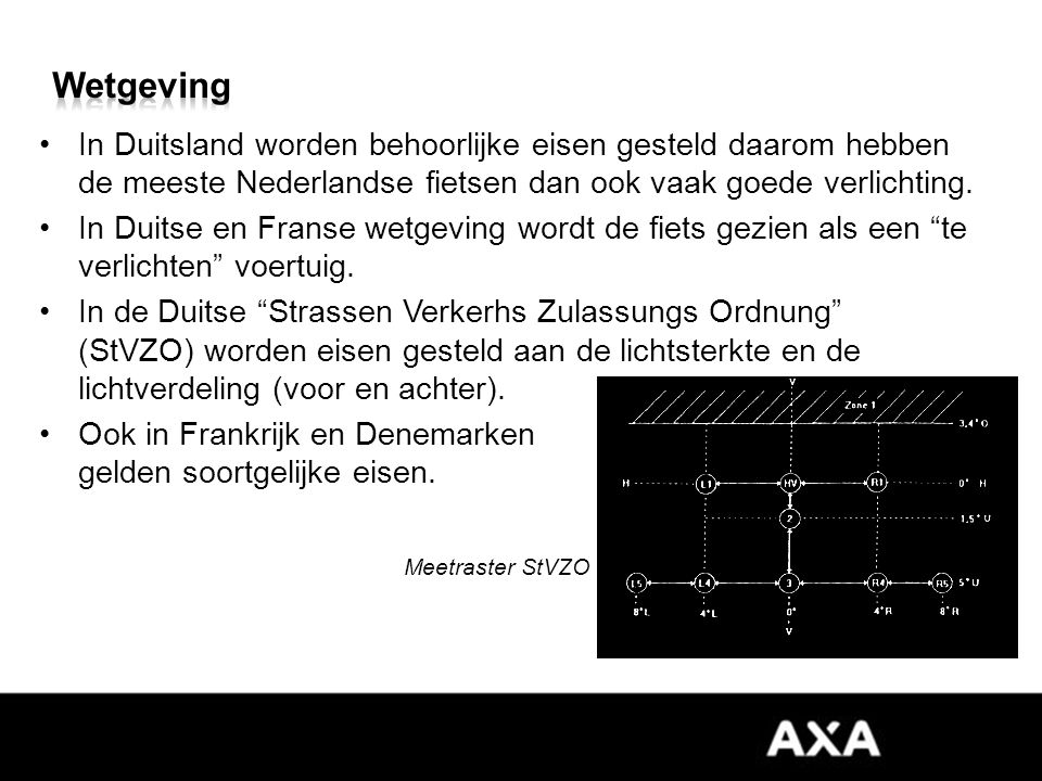 In Duitsland worden behoorlijke eisen gesteld daarom hebben de meeste Nederlandse fietsen dan ook vaak goede verlichting.