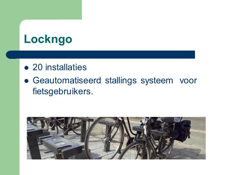 Lockngo 20 installaties Geautomatiseerd stallings systeem voor fietsgebruikers.