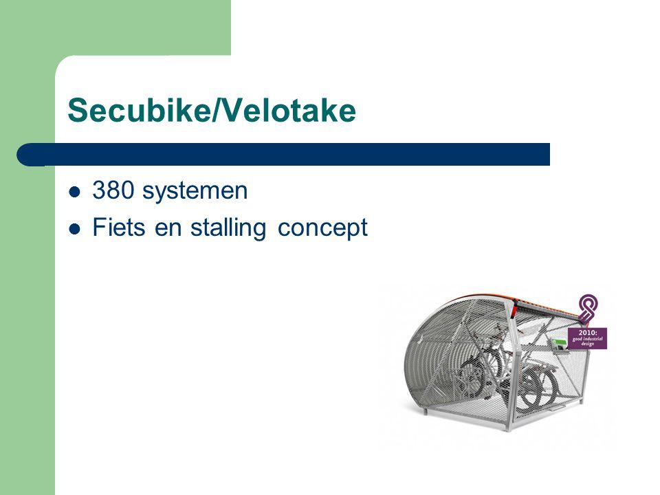 Secubike/Velotake 380 systemen Fiets en stalling concept