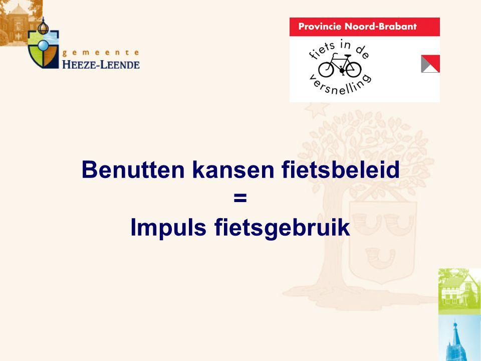 Benutten kansen fietsbeleid = Impuls fietsgebruik