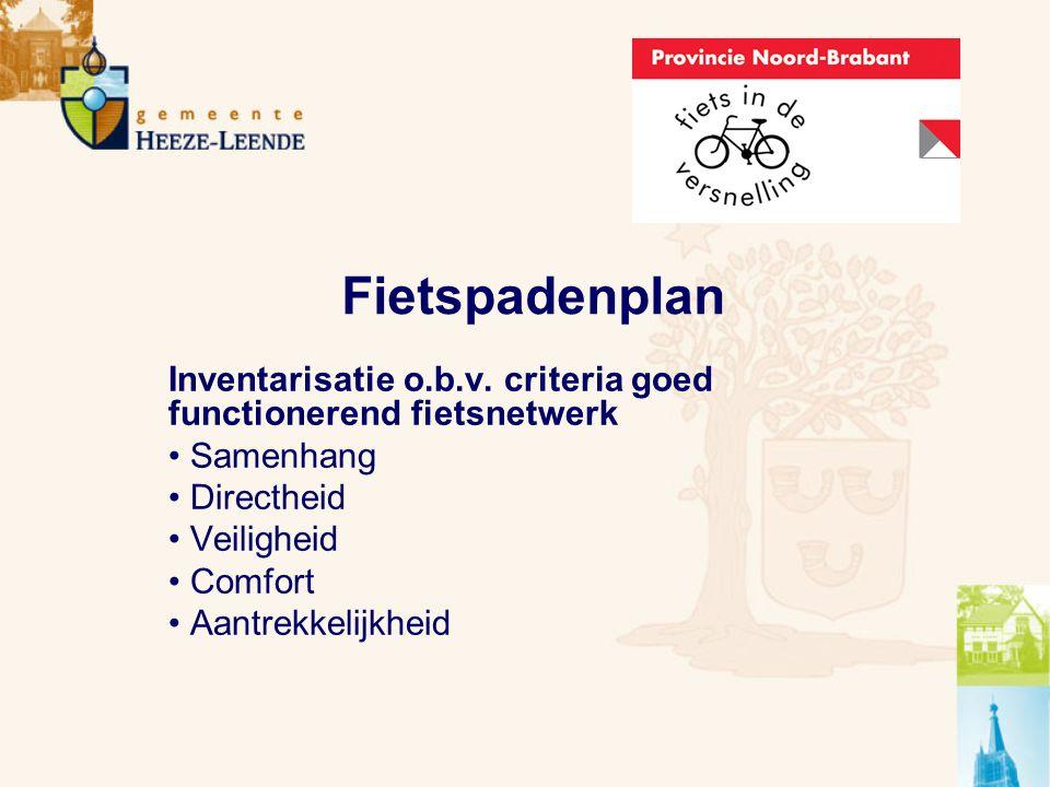 Fietspadenplan Inventarisatie o.b.v.
