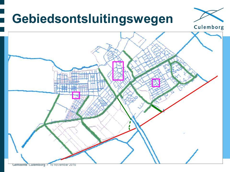Gemeente Culemborg > 10 november 2010 Gebiedsontsluitingswegen