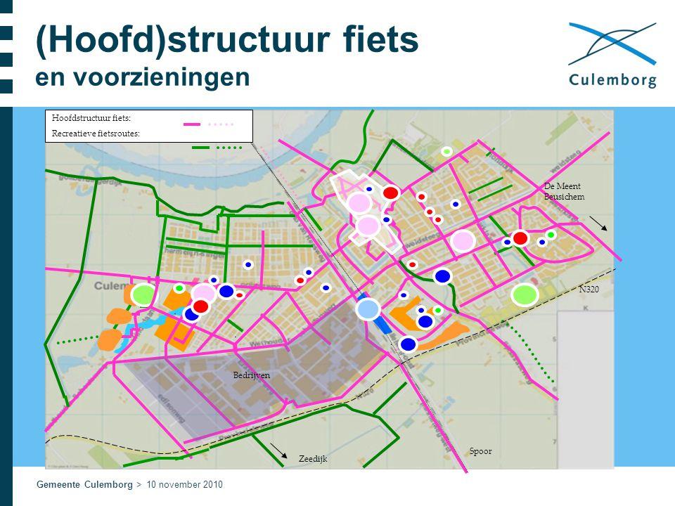 Gemeente Culemborg > 10 november 2010 (Hoofd)structuur fiets en voorzieningen