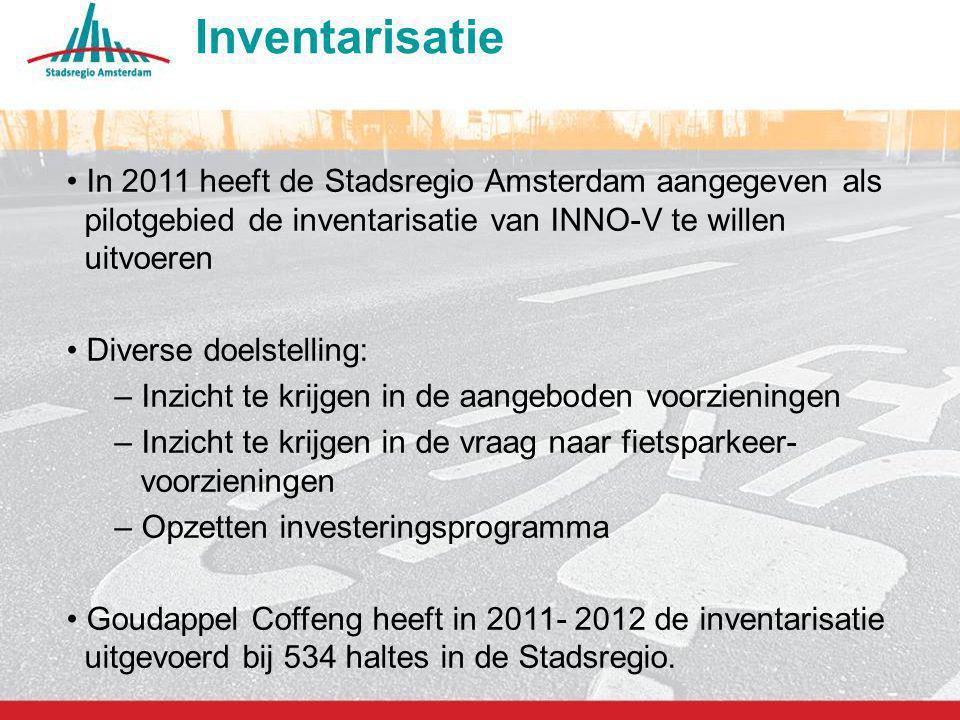 12 Inventarisatie In 2011 heeft de Stadsregio Amsterdam aangegeven als pilotgebied de inventarisatie van INNO-V te willen uitvoeren Diverse doelstelli
