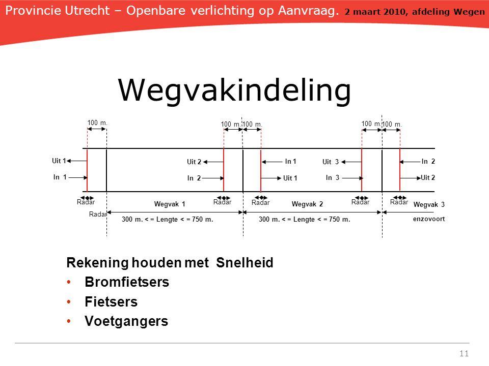 11 Wegvakindeling Provincie Utrecht – Openbare verlichting op Aanvraag.
