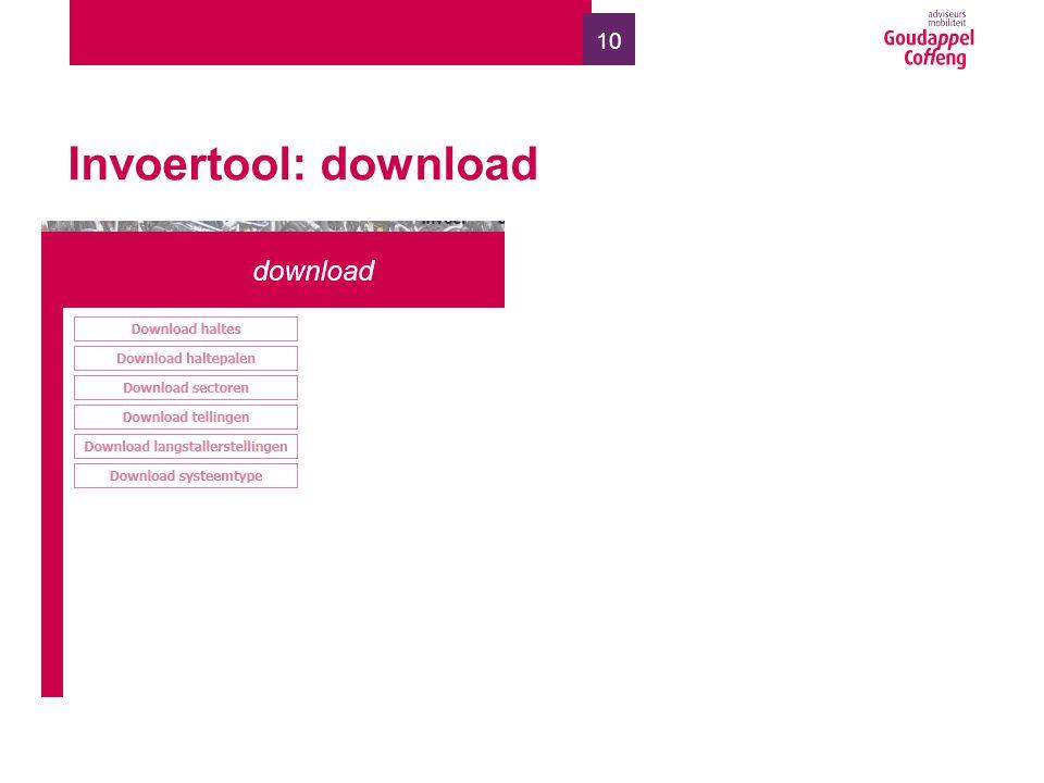 10 Invoertool: download