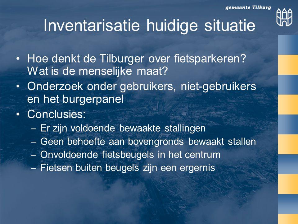 Inventarisatie huidige situatie Hoe denkt de Tilburger over fietsparkeren.