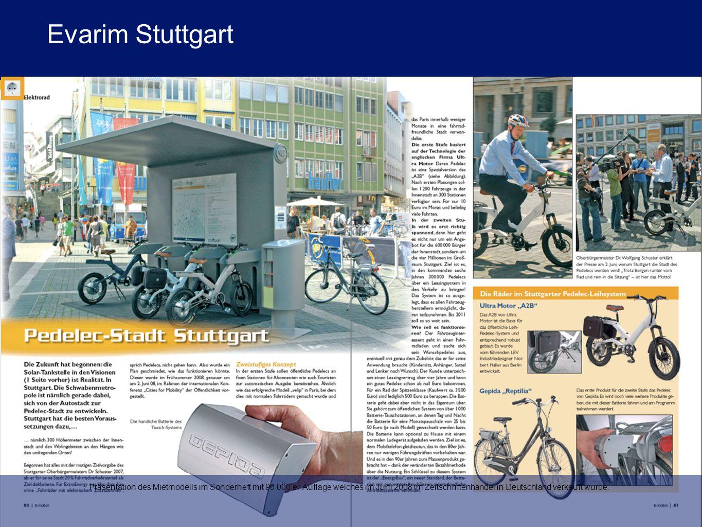 Präsentation des Mietmodells im Sonderheft mit 90 000 er Auflage welches im Juni 2008 im Zeitschriftenhandel in Deutschland verkauft wurde.