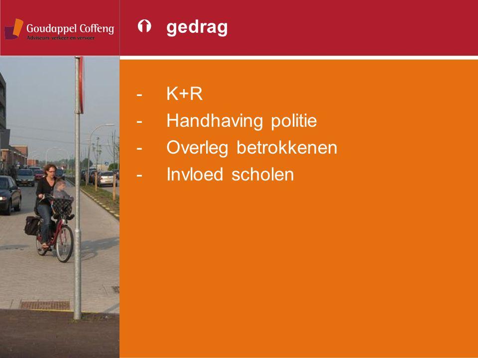 Ýgedrag -K+R -Handhaving politie -Overleg betrokkenen -Invloed scholen