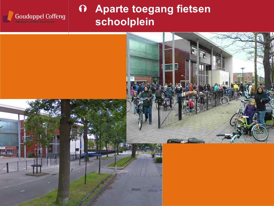 ÝAparte toegang fietsen schoolplein