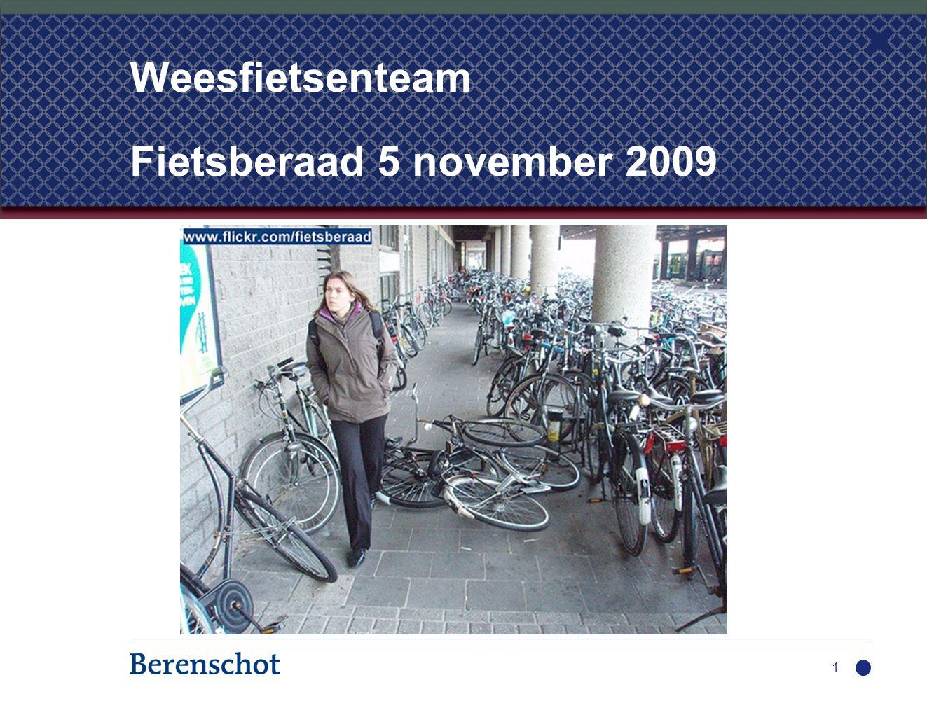 1 Weesfietsenteam Fietsberaad 5 november 2009