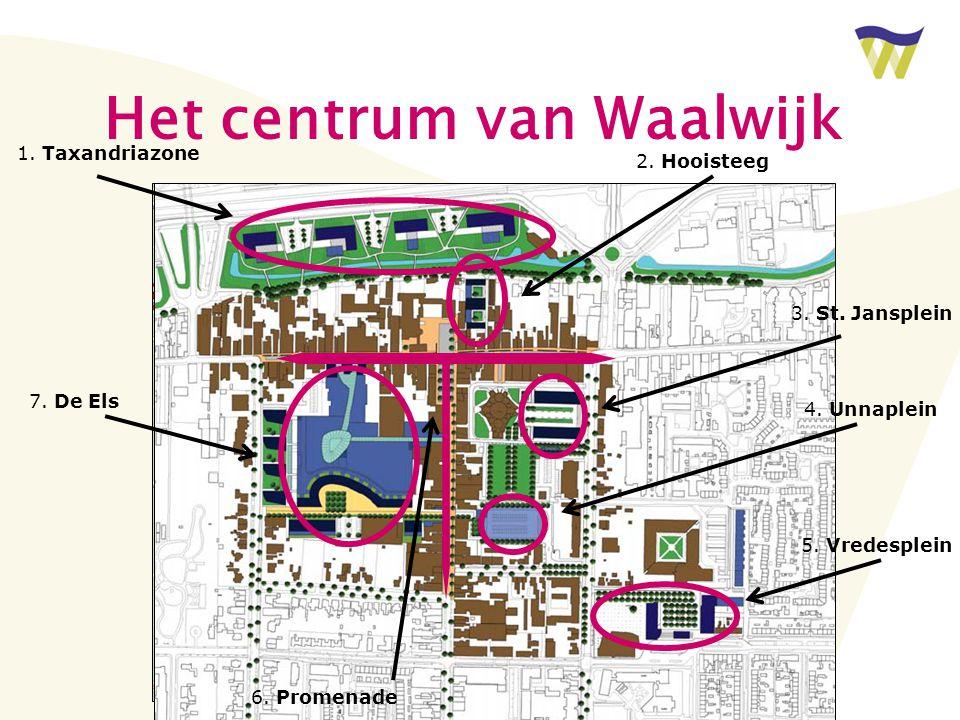 Het centrum van Waalwijk 1. Taxandriazone 2. Hooisteeg 3.