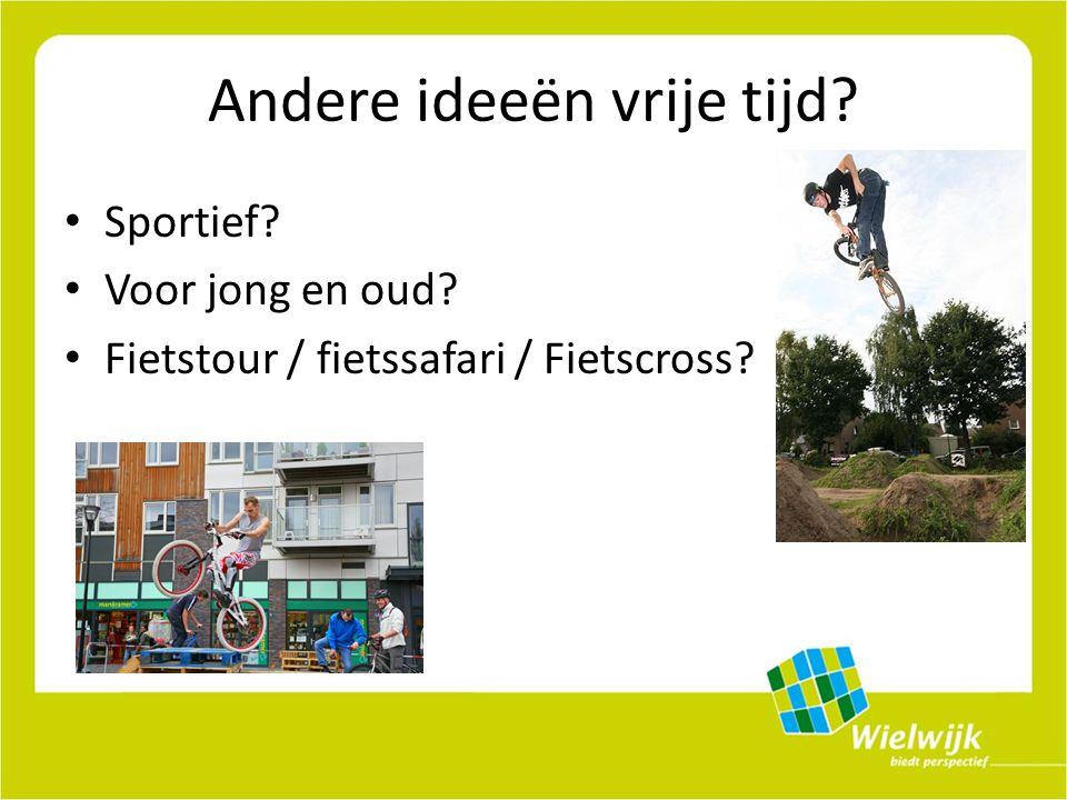 Andere ideeën vrije tijd Sportief Voor jong en oud Fietstour / fietssafari / Fietscross