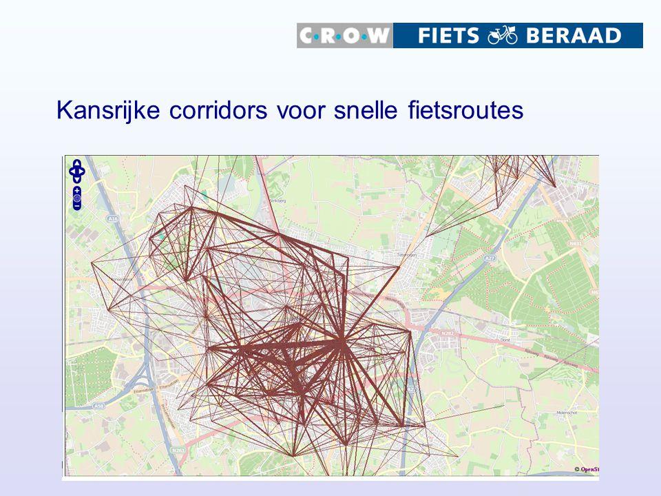 Kansrijke corridors voor snelle fietsroutes