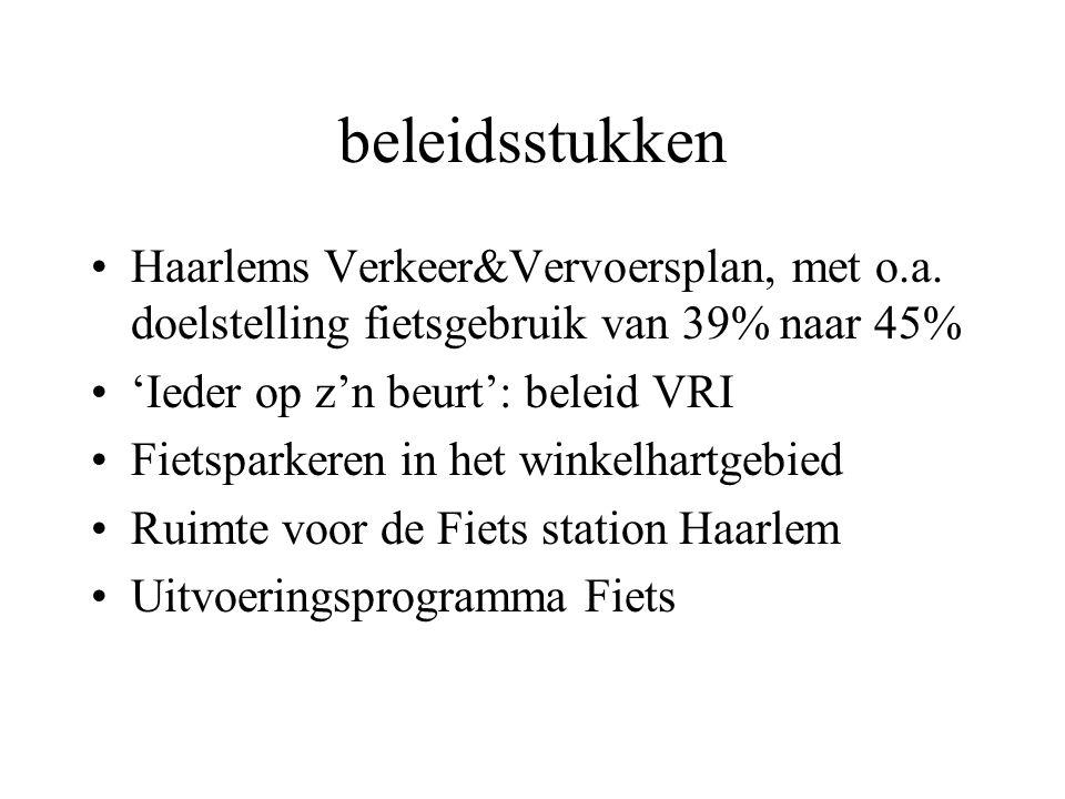 beleidsstukken Haarlems Verkeer&Vervoersplan, met o.a.