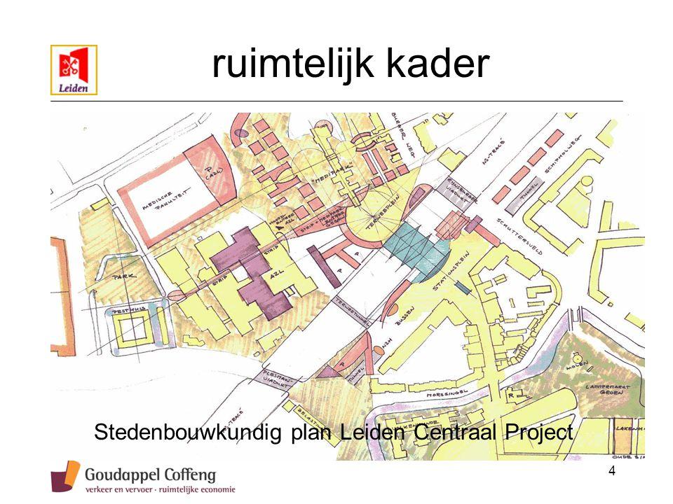 4 ruimtelijk kader Stedenbouwkundig plan Leiden Centraal Project
