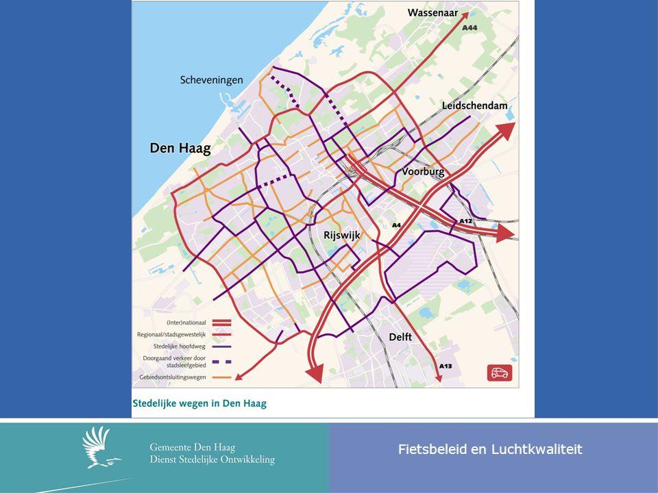 Fietsbeleid en Luchtkwaliteit Effecten: ruimtelijke kwaliteit + meer kansen voor fietsers en voetgangers + meer aantrekkelijke inrichting van enkele routes: fietsvriendelijker - Om de toename van verkeersdruk op CentrumRing te kunnen verwerken, worden forse ingrepen gedaan op de CentrumRing.