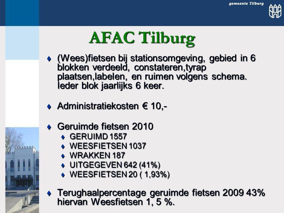 AFAC Tilburg  (Wees)fietsen bij stationsomgeving, gebied in 6 blokken verdeeld, constateren,tyrap plaatsen,labelen, en ruimen volgens schema.