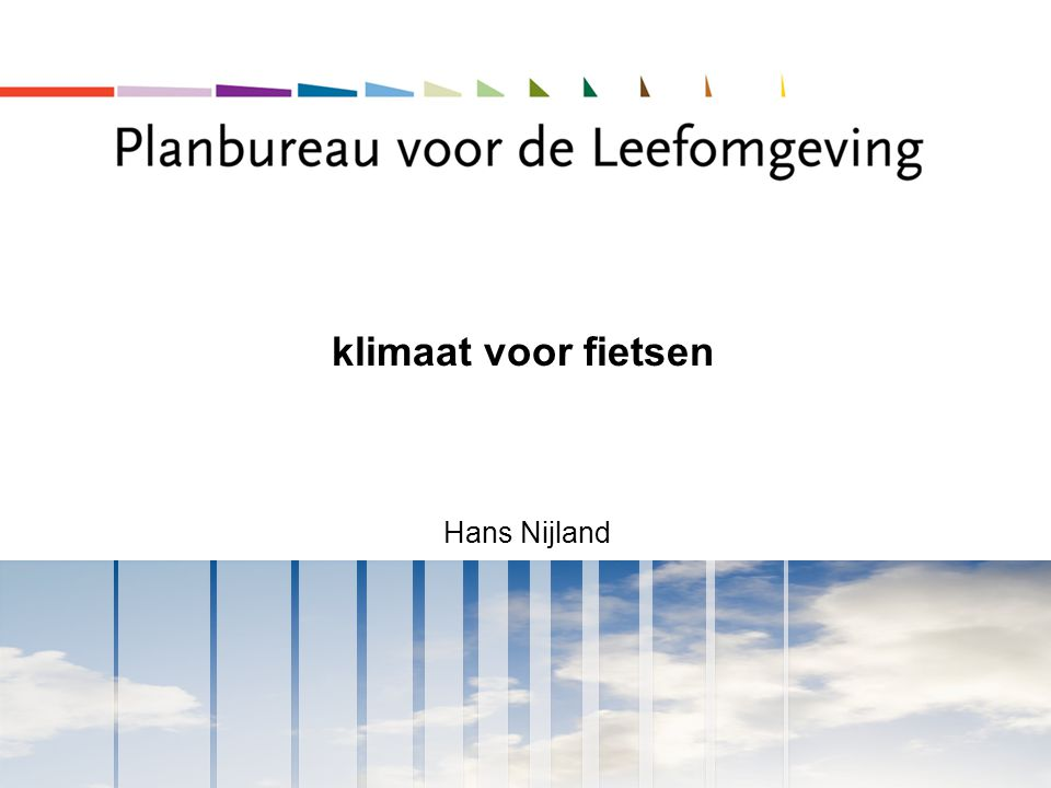 klimaat voor fietsen Hans Nijland