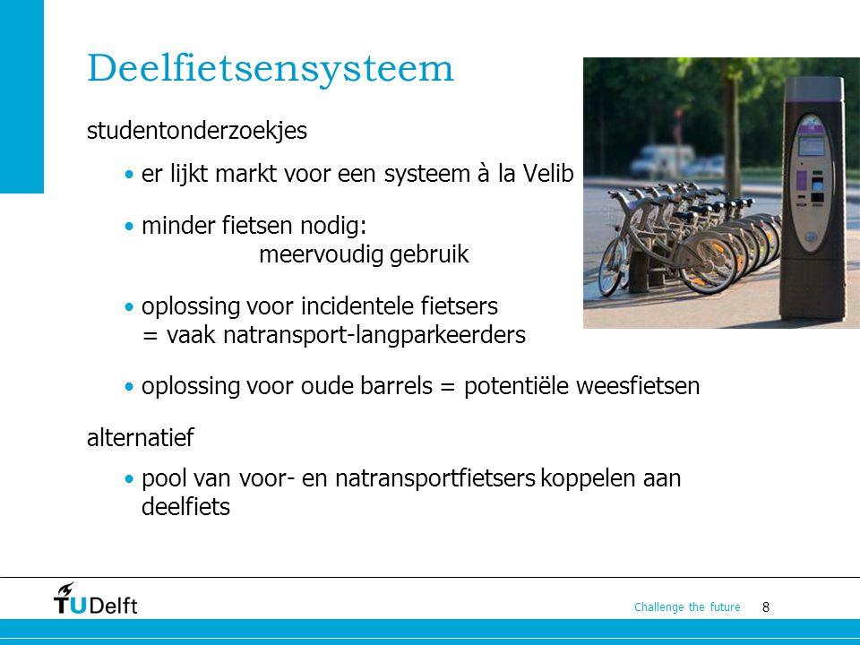 9 Challenge the future Rapport Fietsparkeren email naar c.maat@tudelft.nl paper & presentatie Colloquium Vervoersplanologisch Speurwerk, Amsterdam, november 2012