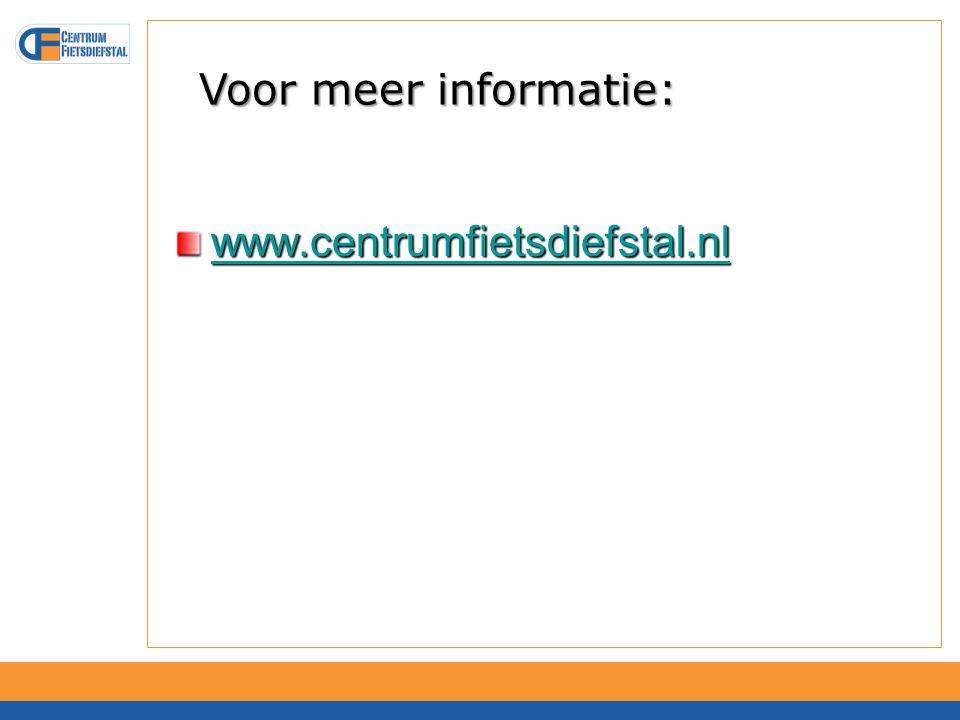 Voor meer informatie: www.centrumfietsdiefstal.nl