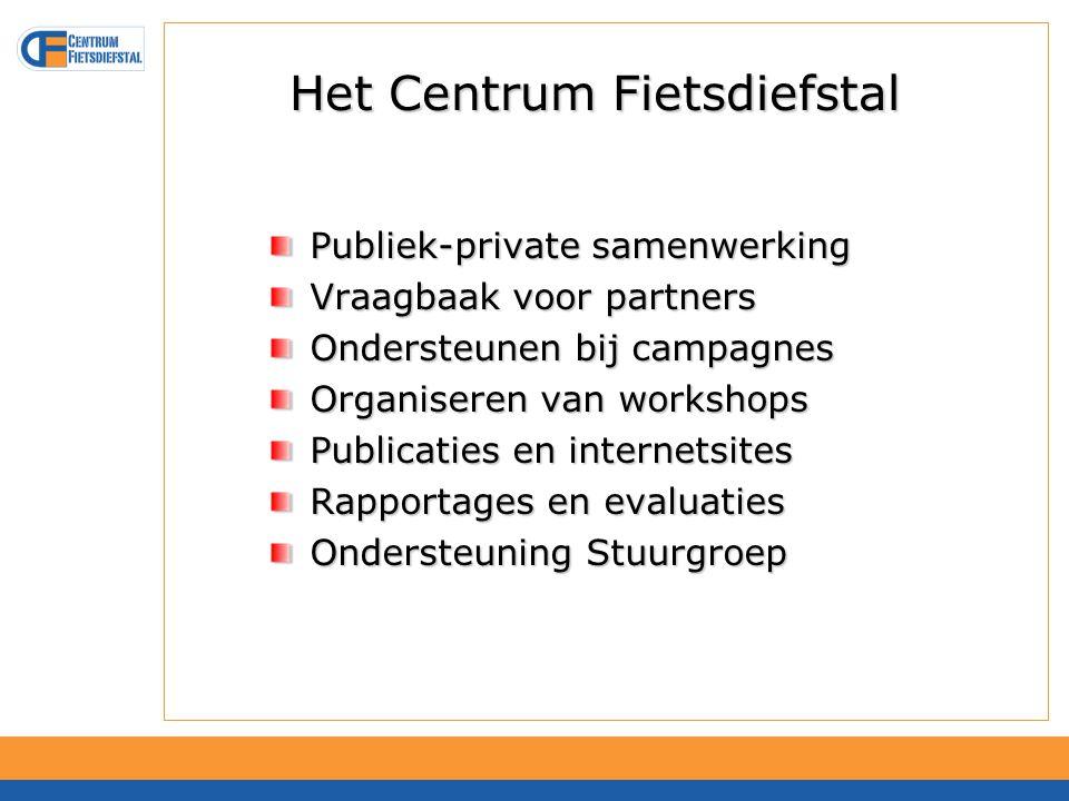 Activiteiten Centrum Fietsdiefstal Activiteiten Centrum Fietsdiefstal 1.Methodieken (oprichten AFAC's)